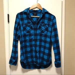 J. Crew Blue Flannel